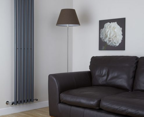 Milano Java - Anthracite Vertical Round Tube Designer Radiator