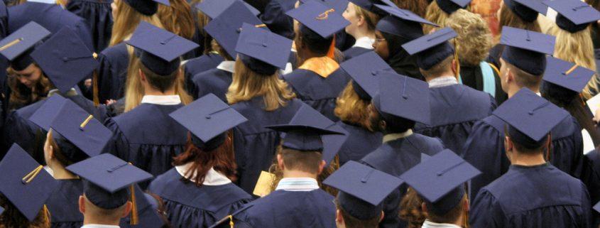 a sea of graduate heads